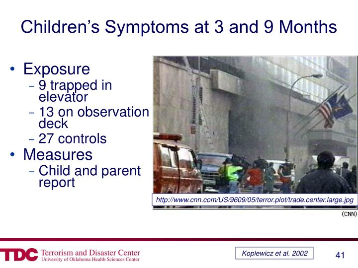 Children's Symptoms at 3 and 9 Months
