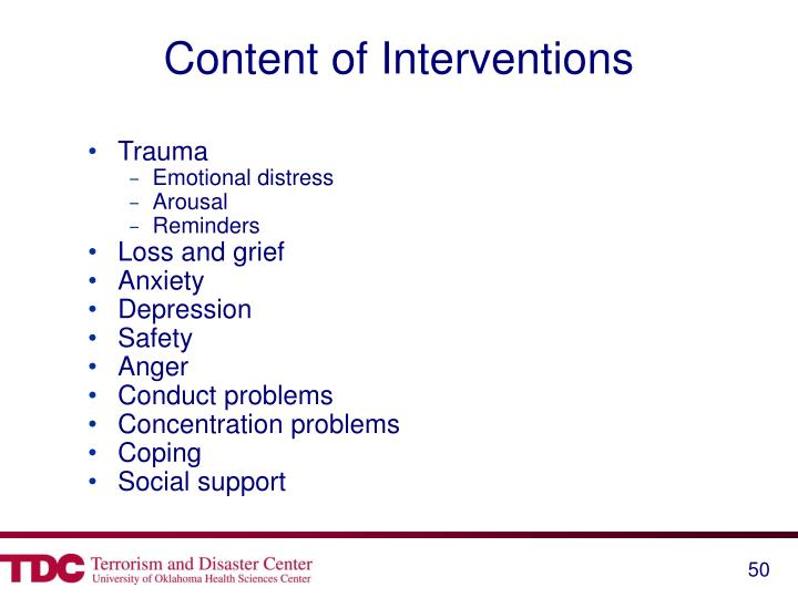 Content of Interventions