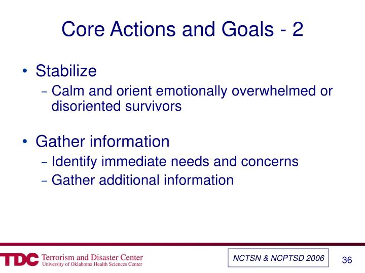 Core Actions and Goals - 2