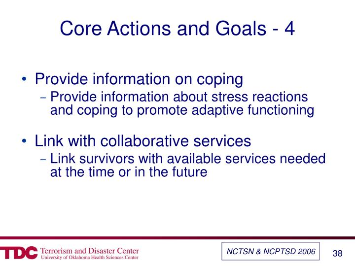 Core Actions and Goals - 4