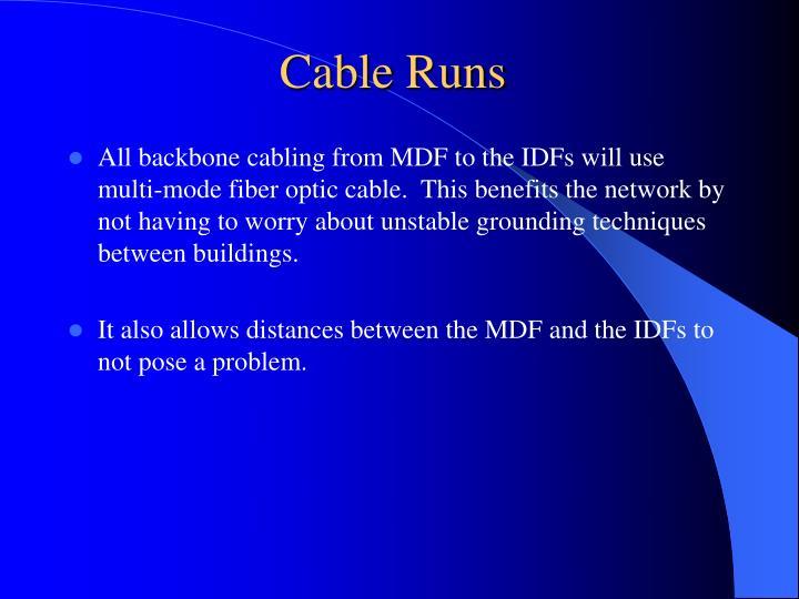 Cable Runs