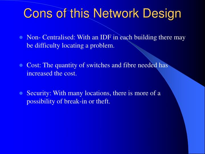 Cons of this Network Design