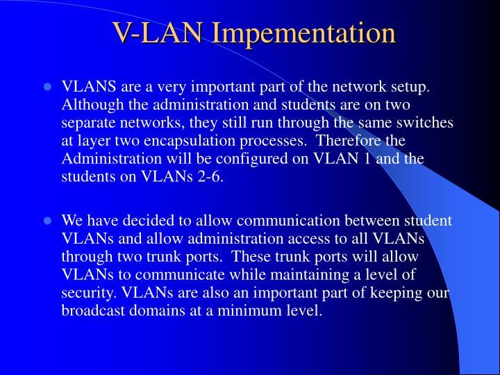 V-LAN Impementation