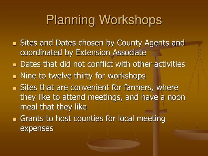 Planning Workshops