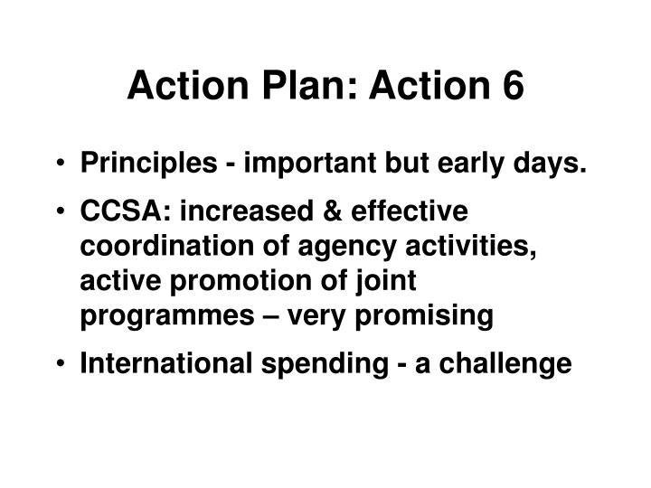 Action Plan: Action 6