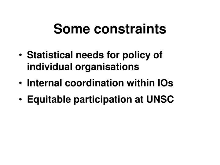 Some constraints