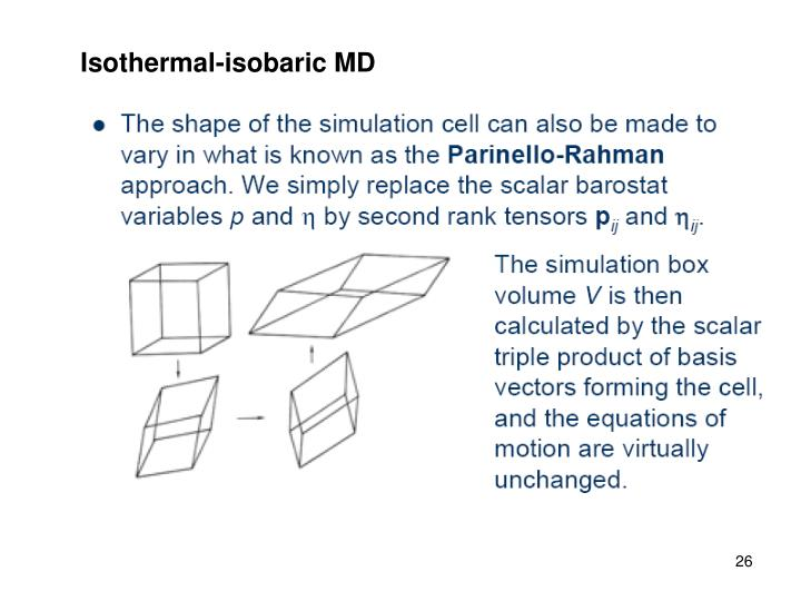 Isothermal-isobaric MD