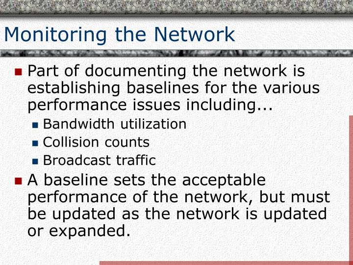 Monitoring the Network
