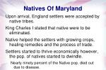 natives of maryland