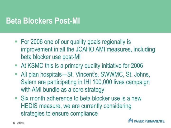 Beta Blockers Post-MI