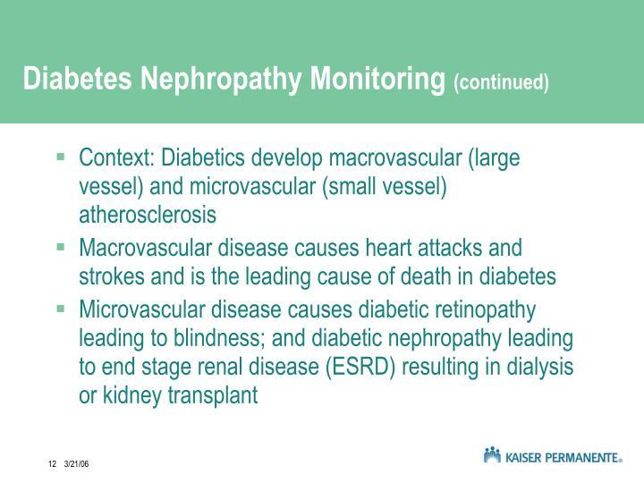 Diabetes Nephropathy Monitoring