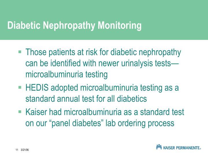 Diabetic Nephropathy Monitoring