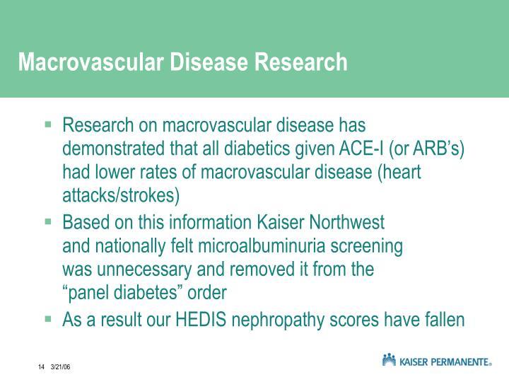 Macrovascular Disease Research