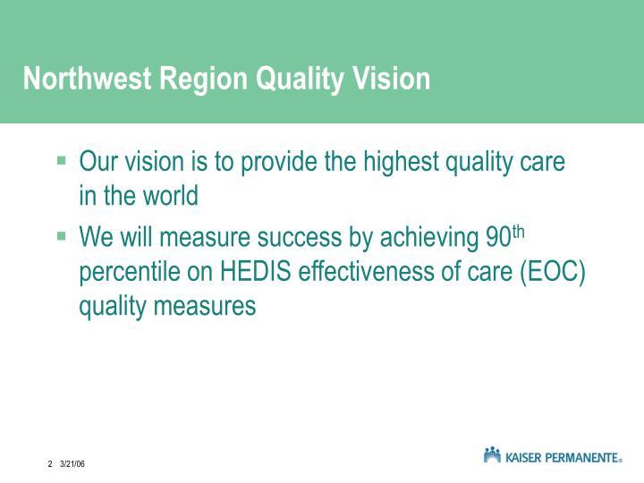 Northwest Region Quality Vision