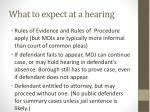 what to expect at a hearing1
