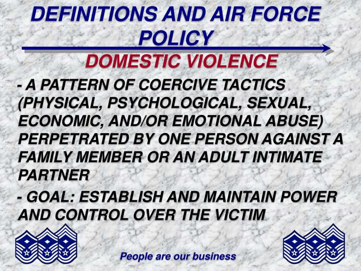 DEFINITIONS AND AIR FORCE POLICY