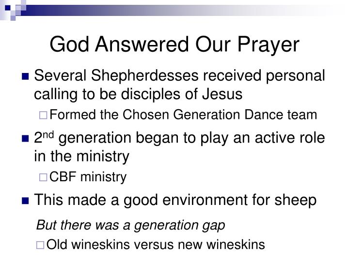 God Answered Our Prayer