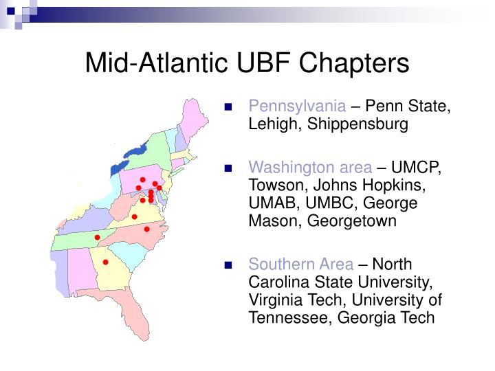 Mid-Atlantic UBF Chapters