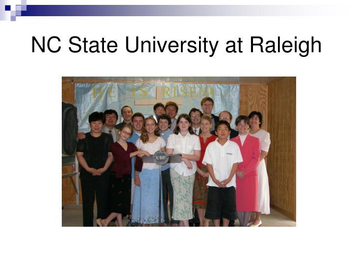 NC State University at Raleigh