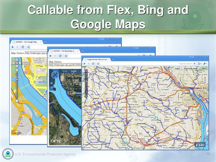 Callable from Flex, Bing and
