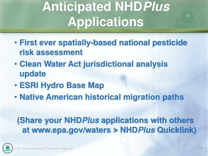 Anticipated NHD