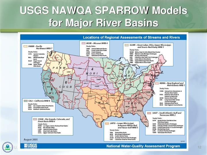 USGS NAWQA SPARROW Models
