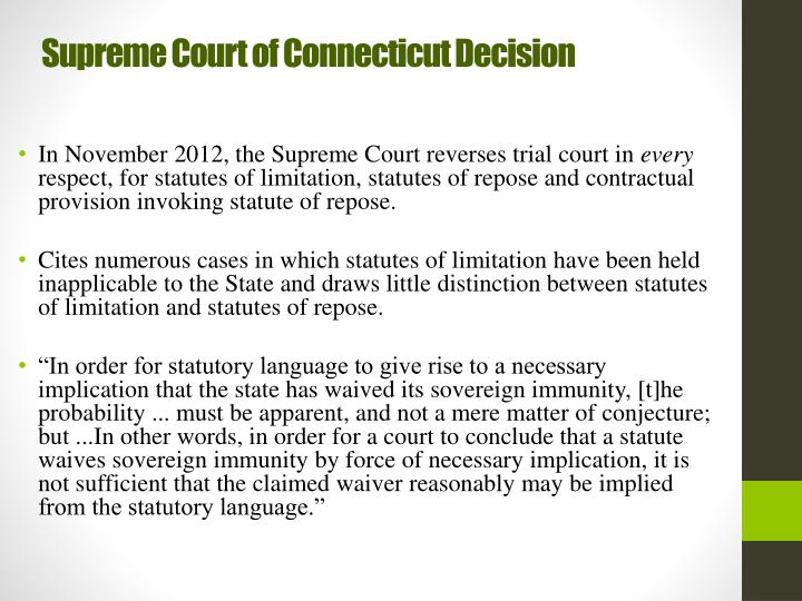 Supreme Court of Connecticut Decision
