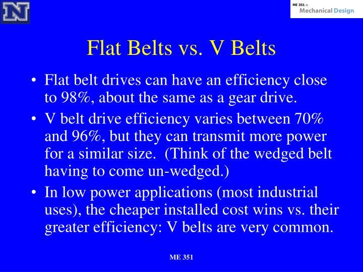 Flat Belts vs. V Belts