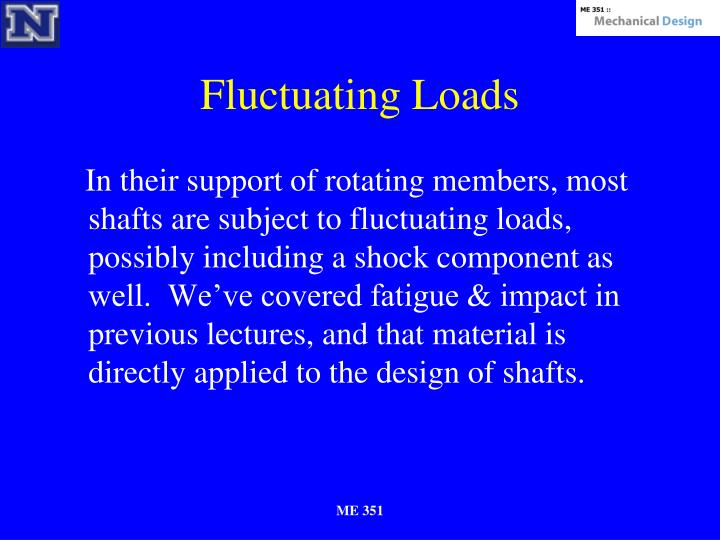 Fluctuating Loads