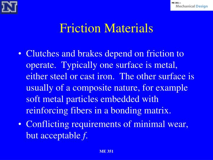 Friction Materials