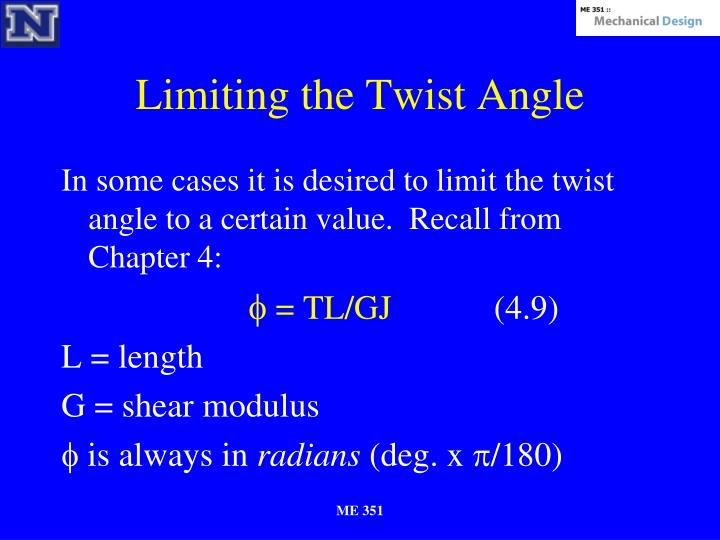 Limiting the Twist Angle