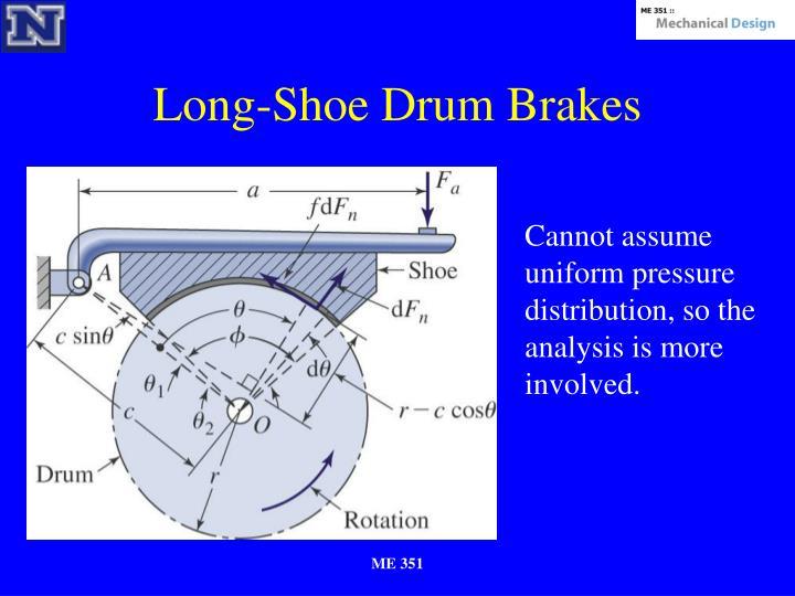 Long-Shoe Drum Brakes
