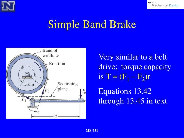 Simple Band Brake
