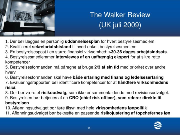 The Walker Review