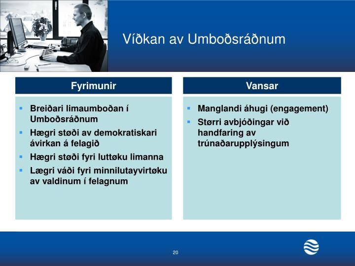 Víðkan av Umboðsráðnum