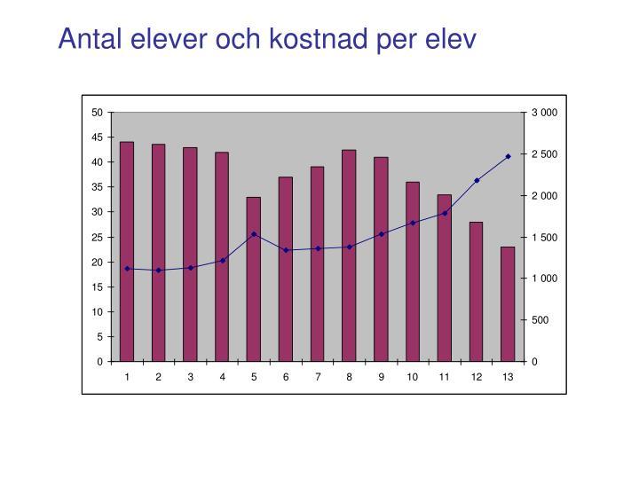 Antal elever och kostnad per elev