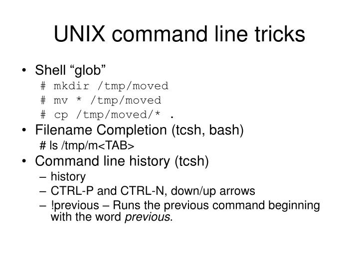 UNIX command line tricks