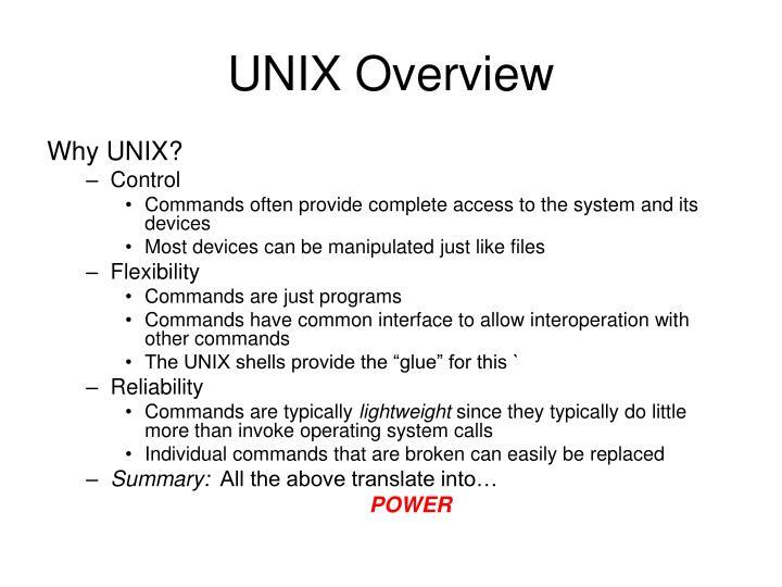 UNIX Overview