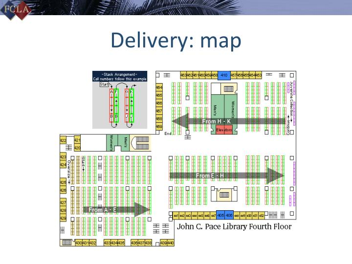 Delivery: map