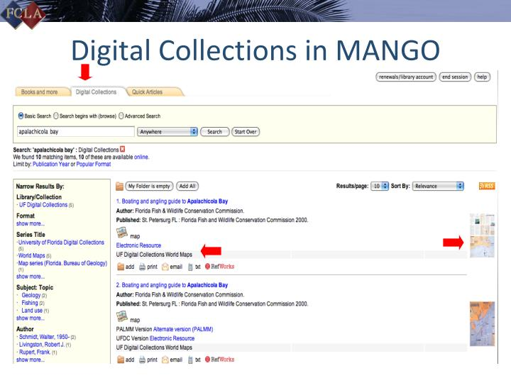 Digital Collections in MANGO