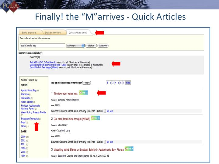 """Finally! the """"M""""arrives - Quick Articles"""