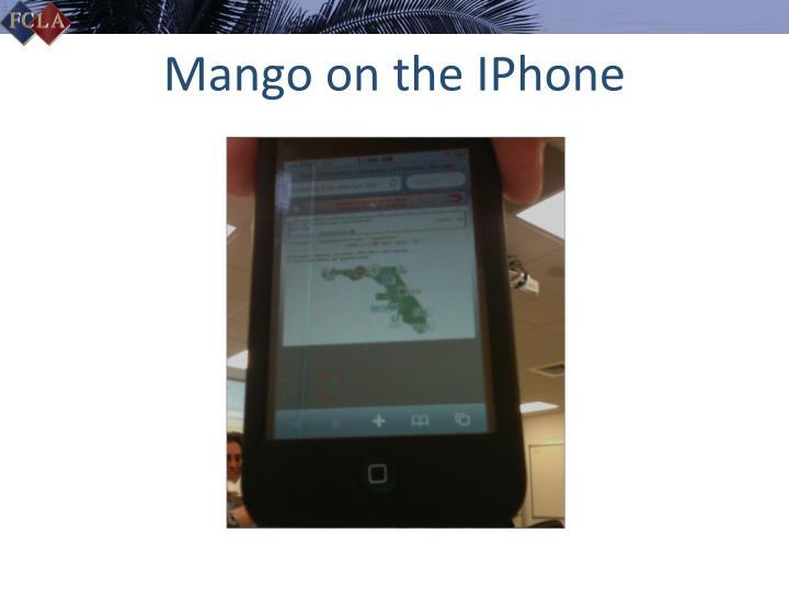Mango on the IPhone