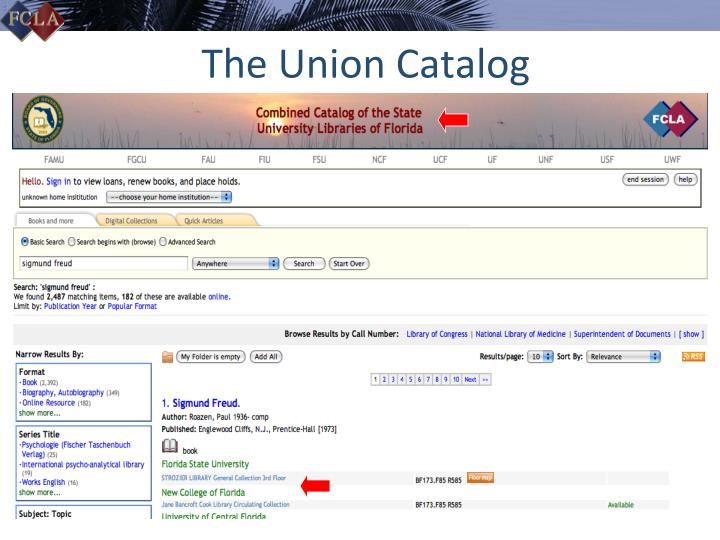 The Union Catalog