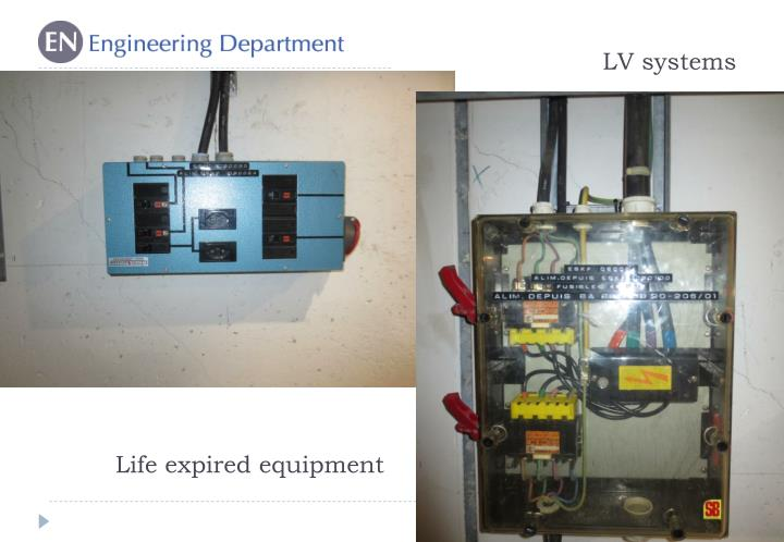 Life expired equipment