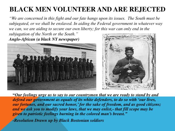 Black Men Volunteer and are Rejected