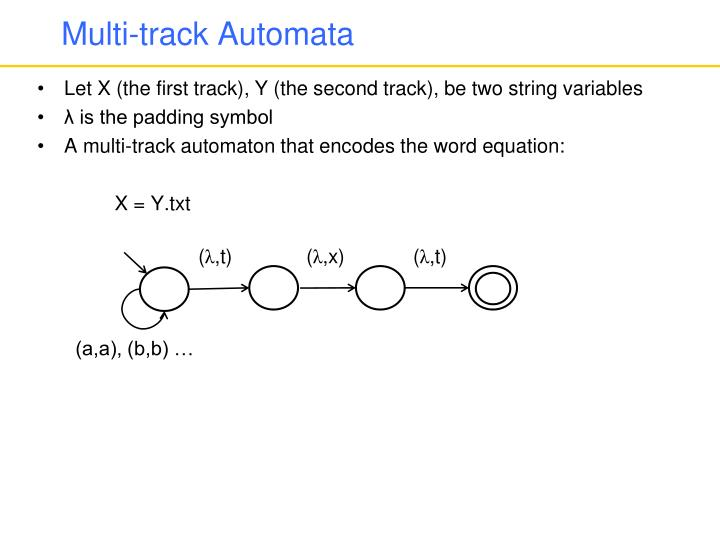 Multi-track Automata