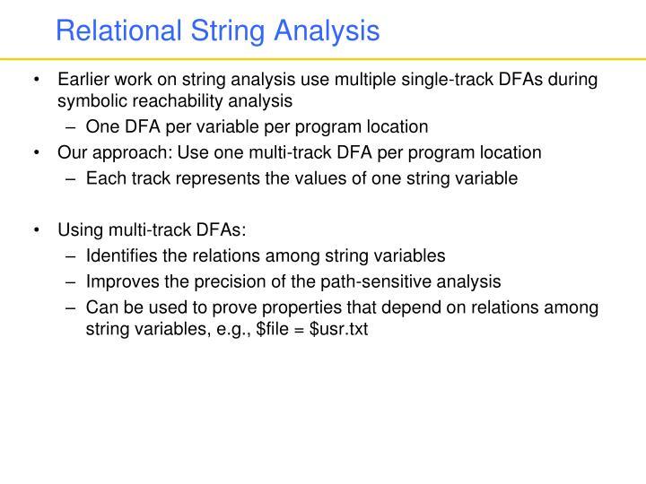 Relational String Analysis