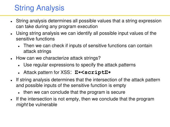 String Analysis
