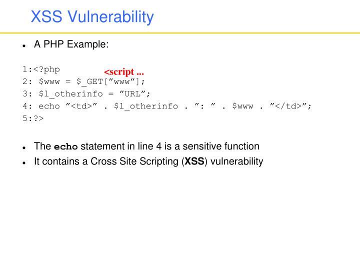 XSS Vulnerability