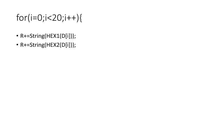 for(i=0;i<20;i++){